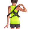 Slip the straps over your shoulders like a backpack to put the posture brace on