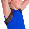 Posture brace is completely adjustable, fitting comfortably around your kid's back and shoulders