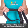 Shoulder padding piece on plus size support can be adjusted for user comfort