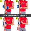 To apply this elbow stabilizer follow these 4-step instructions