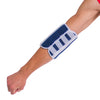 Adult elbow splint and stabilizer helps prevent elbow flexion (bending) while sleeping