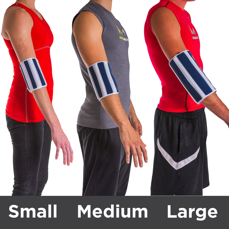 Comparison of the small, medium, and large on 3 different body types