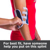 Fit the best fit, have someone help you put on this elbow splint