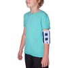 The pediatric elbow immobilizer wraps around the arm and includes splints that prevent your child from bending the elbow.