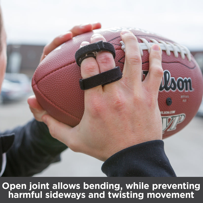 Open joint allows bending, while preventing harmful sideways and twisting movement