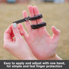 Buddy finger wraps are easy to apply and adjust with one hand for fast finger protection