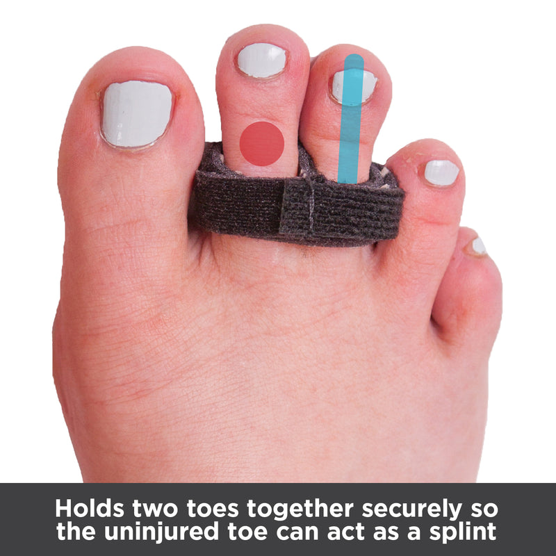 Buddy wraps hold 2 toes together so the uninjured toe can act as a splint