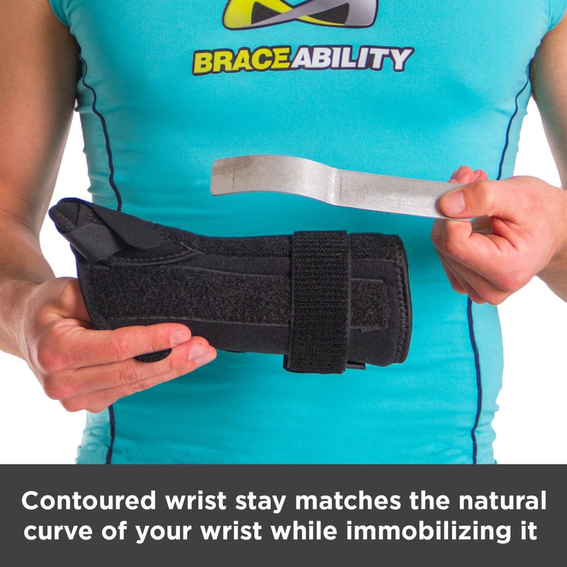 Contoured wrist stay matches the natural curve of your wrist