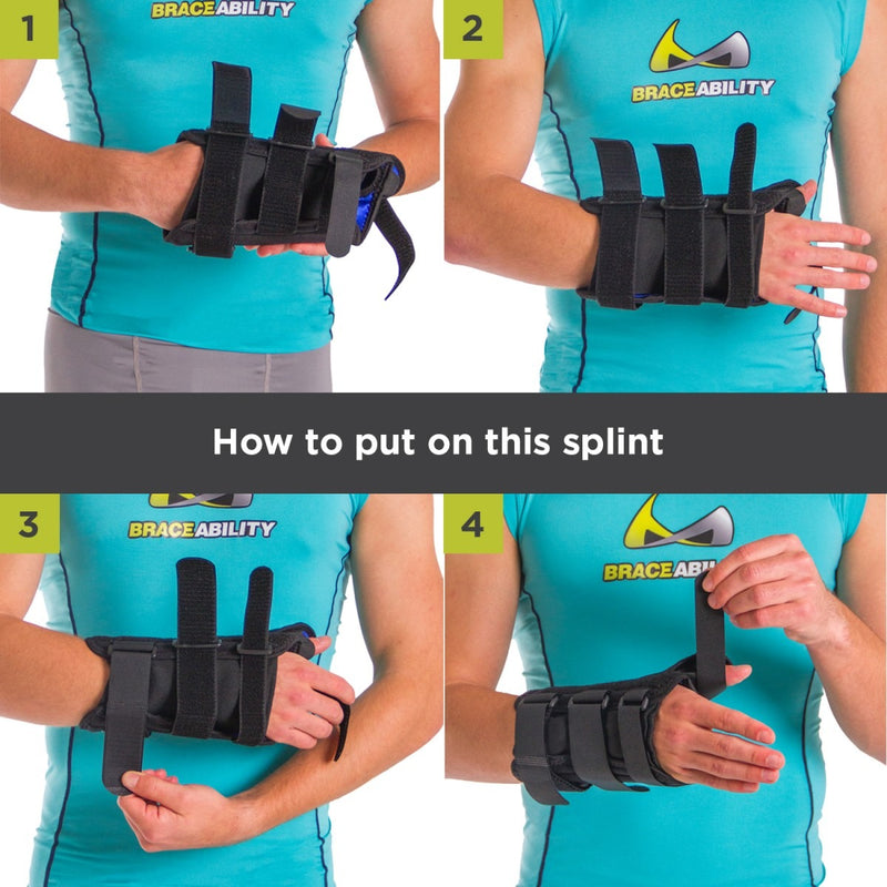 To apply this wrist support brace follow these 4 steps