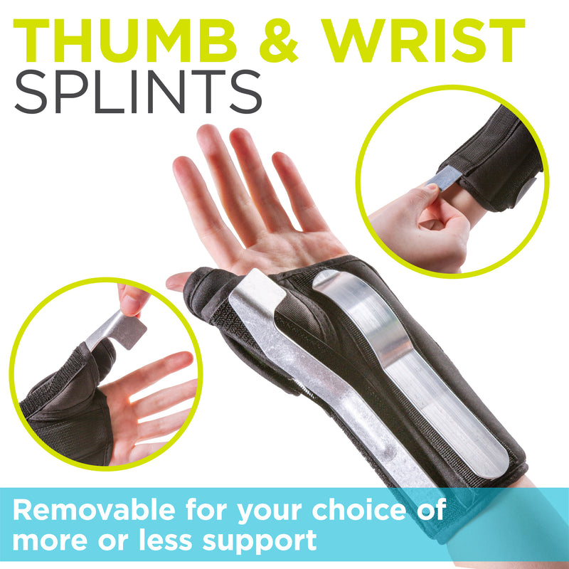 braceability wrist and thumb brace with removable splints