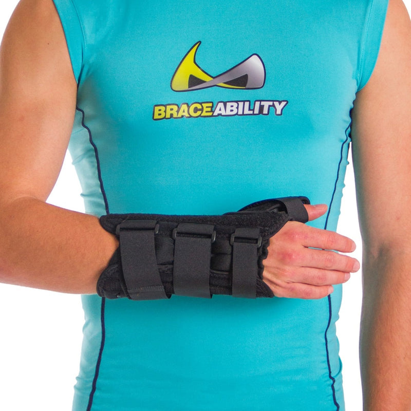 Wrist splint / thumb stabilizer leaves your fingers free
