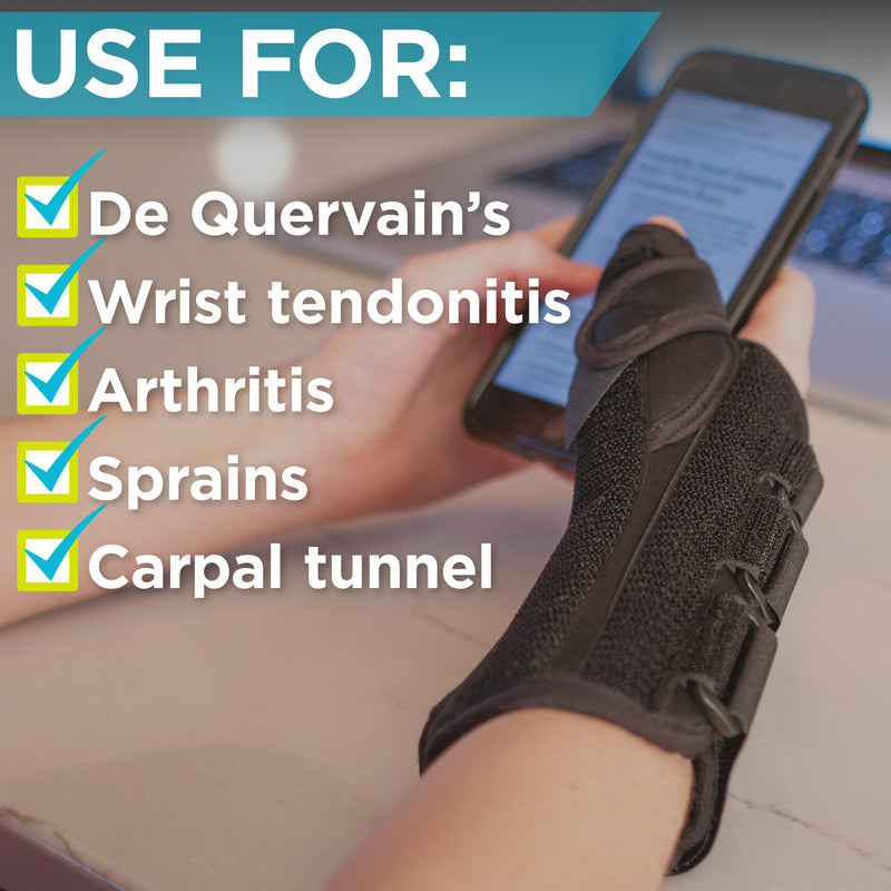 our wrist brace is great for tendonitis, arthritis and sprains