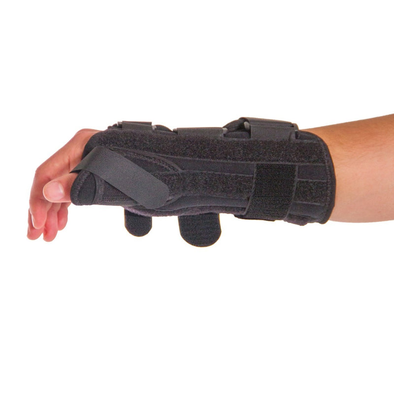 The material this sore wrist and thumb splint is made of is breathable and soft