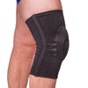 Pull-on padded knee sleeve for knee bursitis treatment and carpenter's kneecap pain