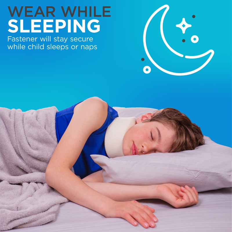 The infant neck support is comfortable to wear while sleeping thanks to it's strong fastener