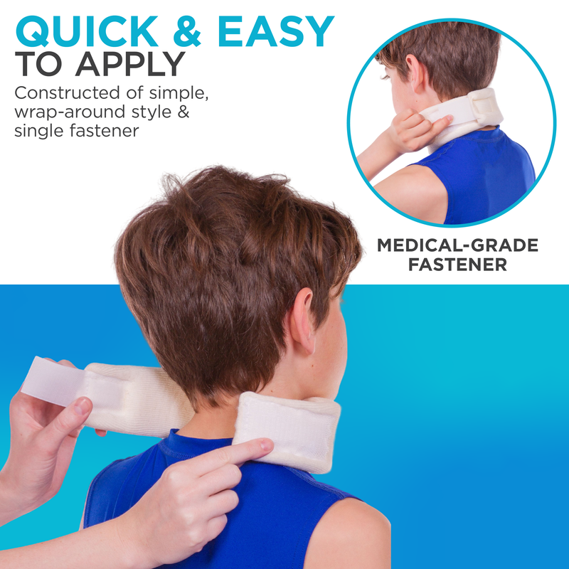 a single wrap-around strap and medical grade fastener make the brace quick and easy to apply