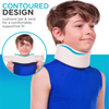 the contoured soft neck collar for kids gives a comfortable supportive fit