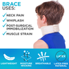The baby neck support can be used for neck pain, whiplash, and post-surgical immobilization