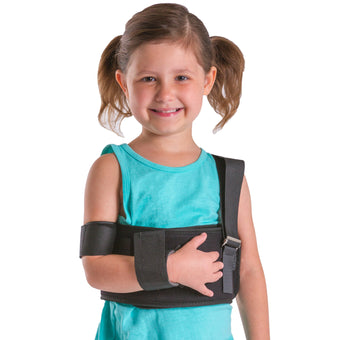 Pediatric shoulder immobilizer arm sling for kids and children