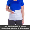 The entire binder is Velcro compatible for easy fit adjustment