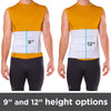 Plus size abdominal support binder is 12 inches tall