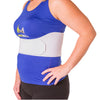 Universal women's rib binder is contoured to accommodate a female's chest