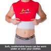 Soft, comfortable rib brace can be worn under or over your clothes