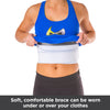 Soft, comfortable fractured rib binder can be worn under or over your clothes