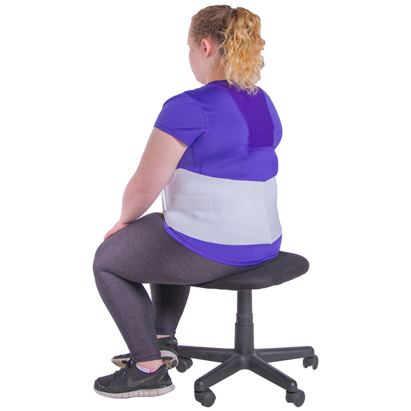 Obesity belt can be used to hold hanging stomach in a more comfortable position, even when sitting