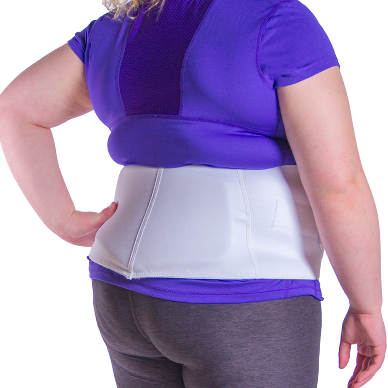 Wearing an abdominal belt not only helps you look skinnier but will also help you feel healthier!