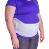 This plus size belly brace for pendulous abdomen is universal, fitting most men and women and is comprised of lightweight, comfortable material.