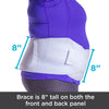 Eight inch tall obesity belt applies enough compression on the bottom of you stomach to hold your pendulous abdominal wall in place