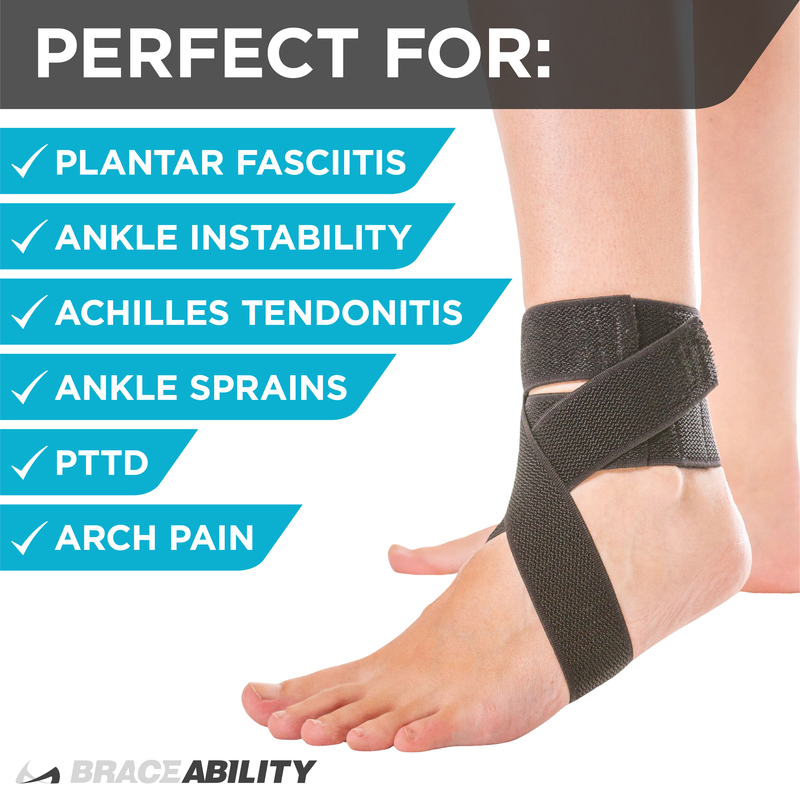 Plantar fasciitis ankle brace for running helps prevent ankle sprains, and achilles tendonitis