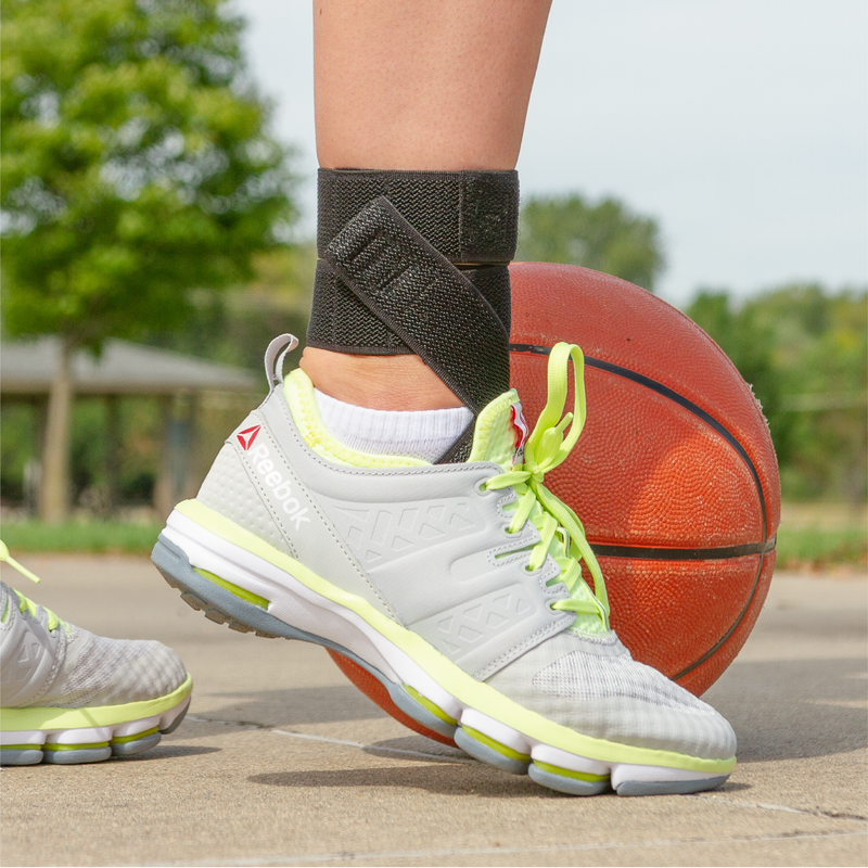 Wear our daytime ankle brace wrap for sports to relieve heel and plantar fasciitis pain