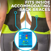 hot and cold compression pack fits into back braces for support