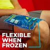 frozen ice pack for knee injuries stays flexible
