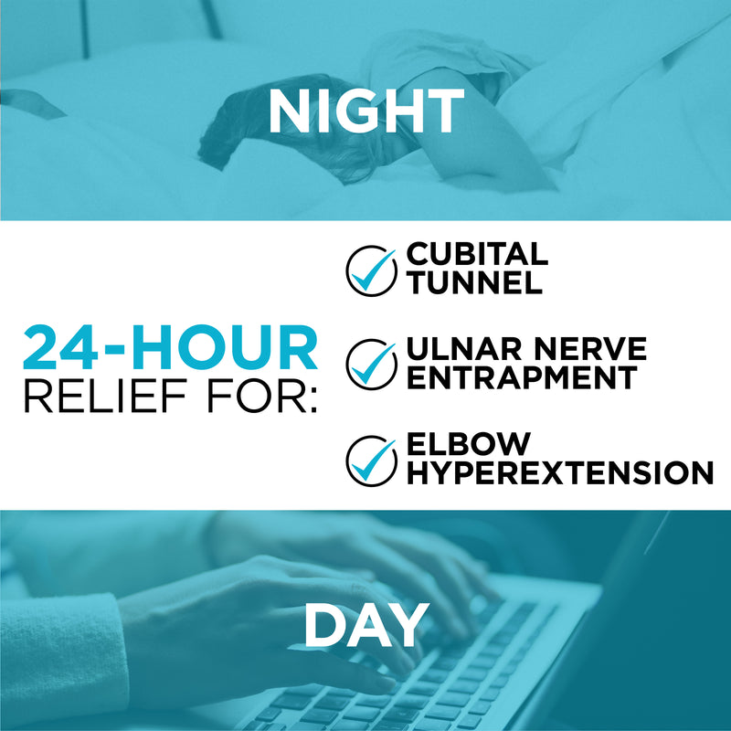 the cubital tunnel night splint for elbow pain helps prevent ulnar nerve entrapment and elbow hyperextension