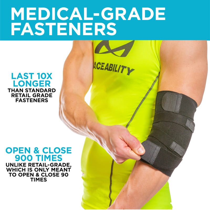 Wear the ulnar nerve elbow brace on your right or left arm to treat neuropathy