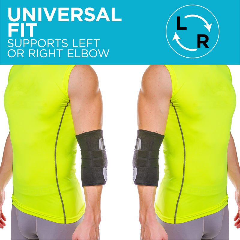 The Ulnar Nerve Elbow Brace is a universal fit for left or right elbow