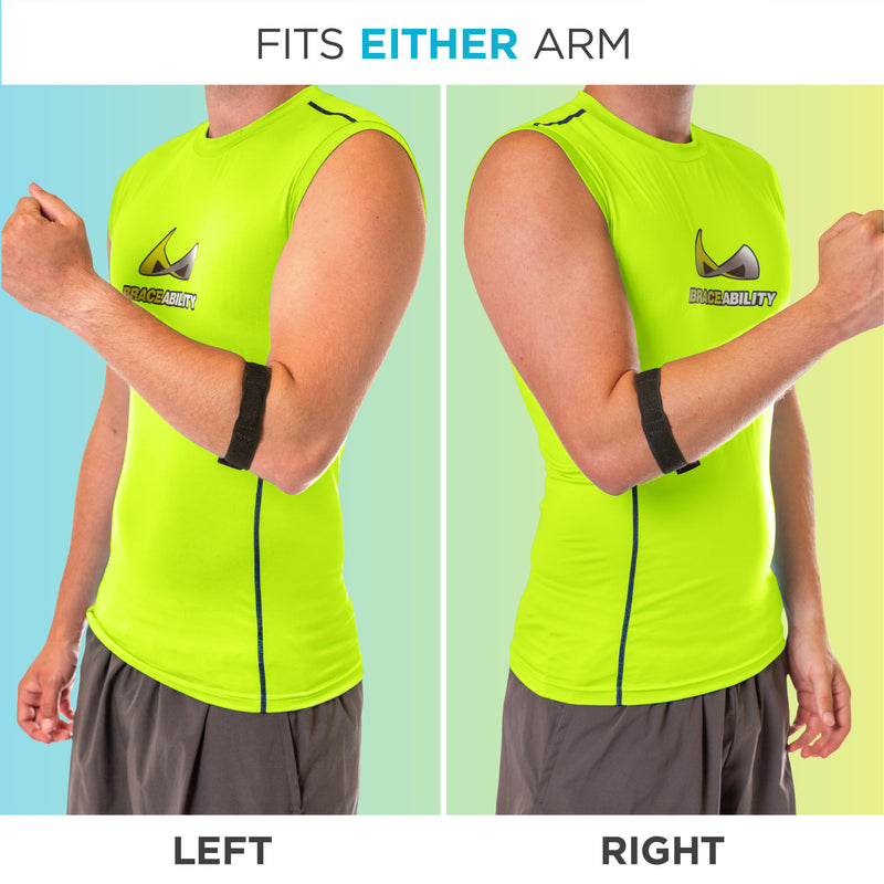 The elbow epicondyle tendonitis brace is great for tennis or golfers elbow on the left or right arm