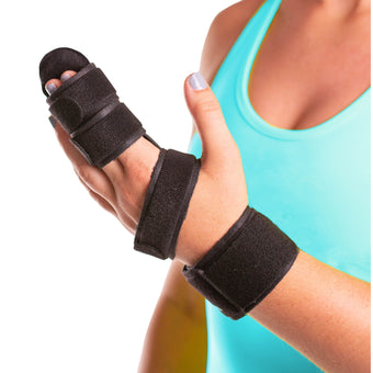 Hand and two finger immobilizer splint immobilizes knuckles and your pinky, ring, middle, and index finger