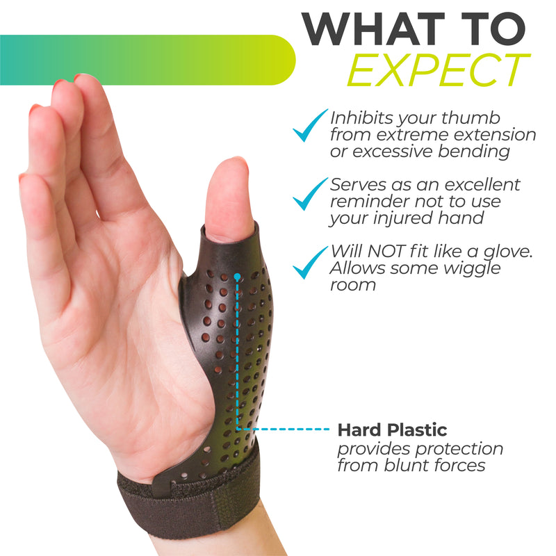 our thumb spica is made with rigid plastic