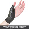 Undersleeve can be worn under wrist and hand splints or braces
