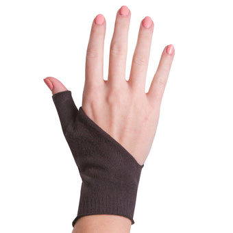 Front view of our soft protective undersleeve for thumb splint