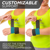 The adjustable gymnastics wrist guard has two customizable straps for cheer and tumbling