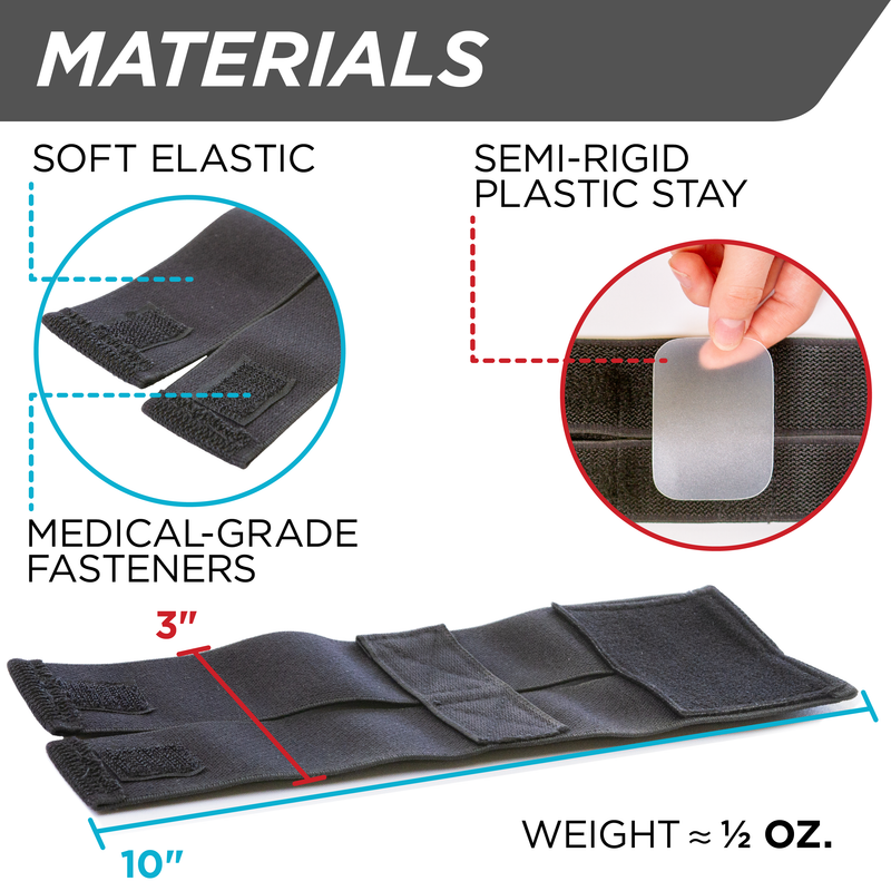 Featuring soft elastic and medical-grade fasteners our slim cheer wrist brace is perfect for gymnastics