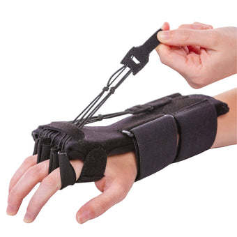 Radial nerve palsy splint for dynamic wrist drop and finger extension