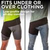 wear the groin strain wrap either over or under your clothes