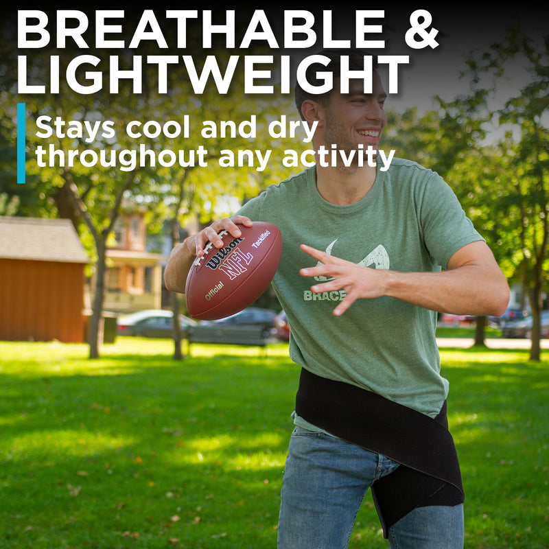 lightweight and breathable hip support wraps keep you cool throughout activities