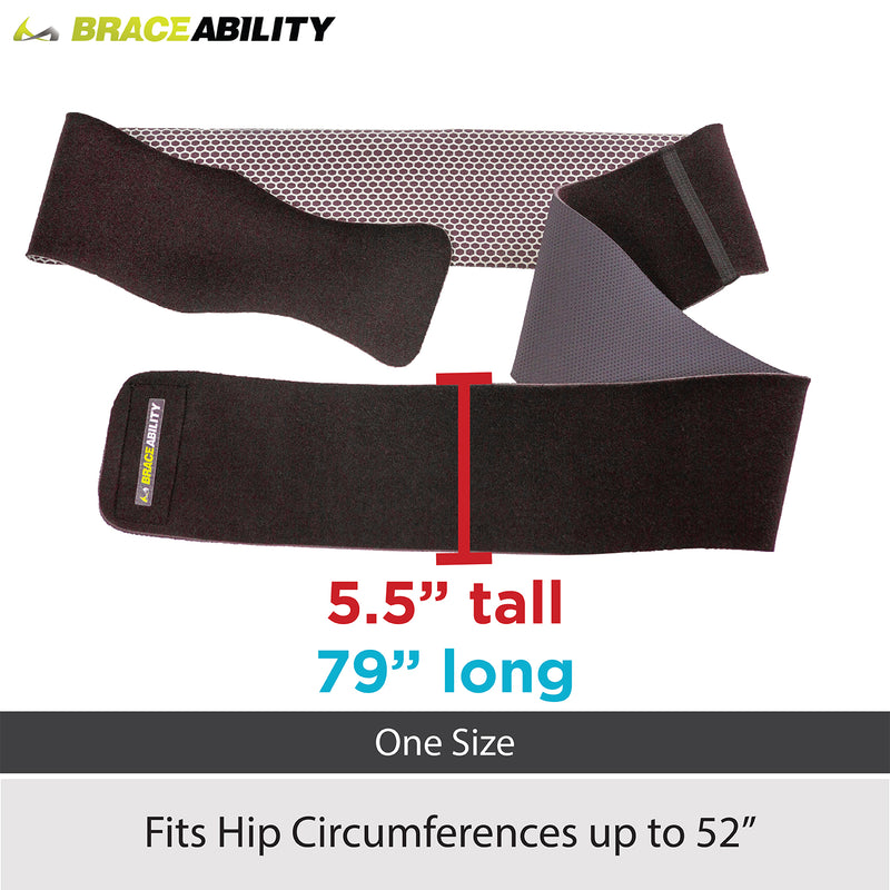 sizing chart for groin brace and hip flexor support fits up to 52 inch hip circumference